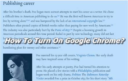 How To Turn On Google Chrome