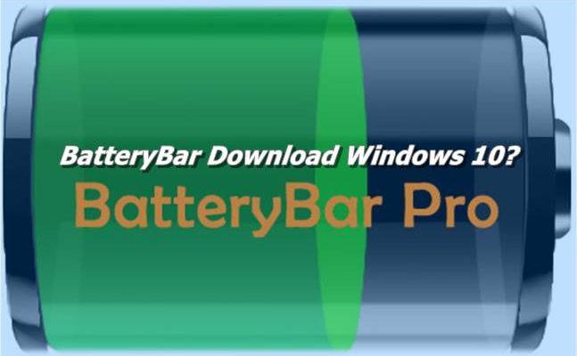 BatteryBar Download Windows 10