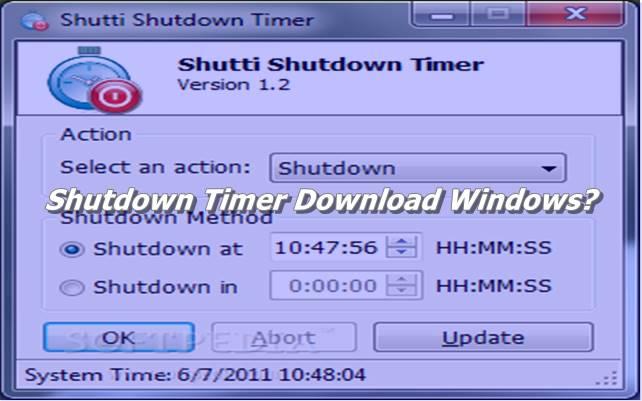 Shutdown Timer Download Windows